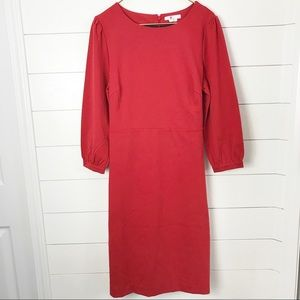 Boden Red Tie Back Dress Plus Size